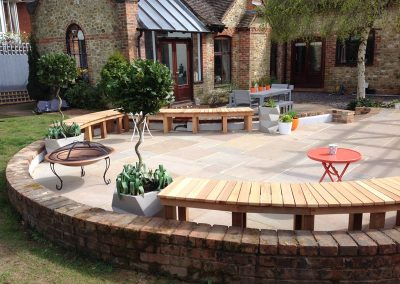 seating area and patio design Farnham